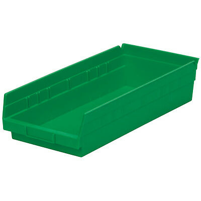 Akro-Mils Shelf Bin 17-7/8D x 8-3/8W x 4H Green  12 pack