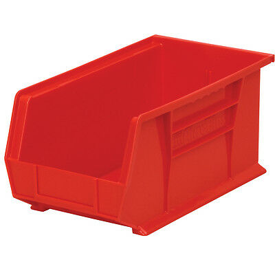 Akro-Mils AkroBin Stack & Hang Bin 7Hx8 1/4W x14 3/4D Red  12 pack