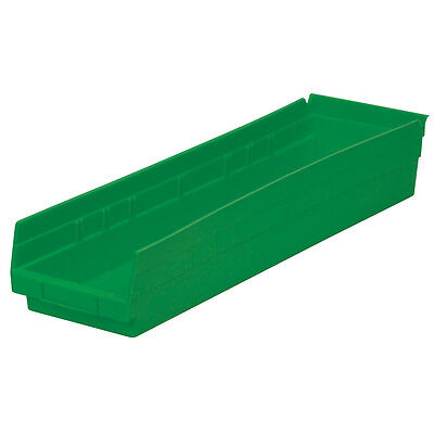 Akro-Mils Shelf Bin 23-5/8D x 6-5/8W x 4H Green  6 pack