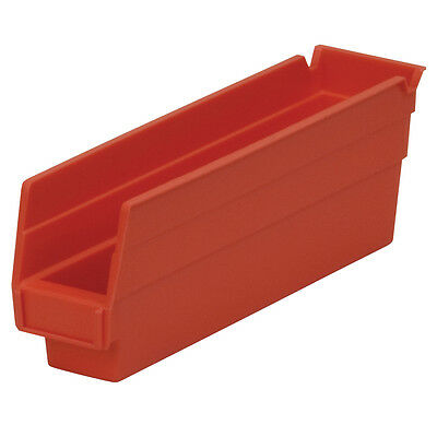 Akro-Mils Shelf Bin 11-5/8Dx 2 3/4W x 4H Red  24 pack