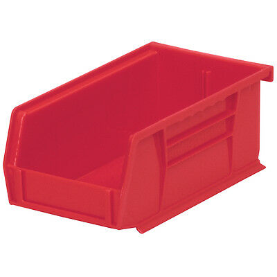 Akro-Mils AkroBin Stack & Hang Bin 7-3/8D x 4-1/8W x 3H Red  24 pack