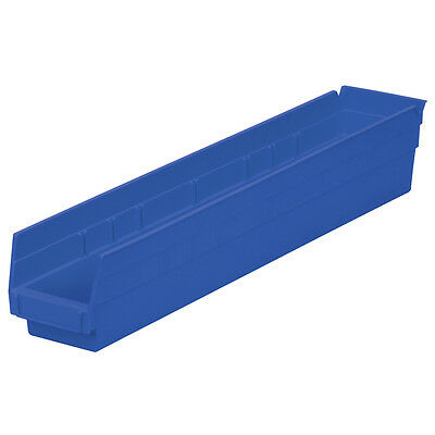 Akro-Mils Shelf Bin 23-5/8D x 4-1/8W x 4H Blue  12 pack