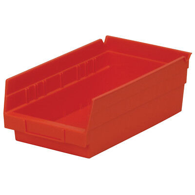 Akro-Mils Shelf Bin 11-5/8D x 6-5/8W x 4H Red  12 pack