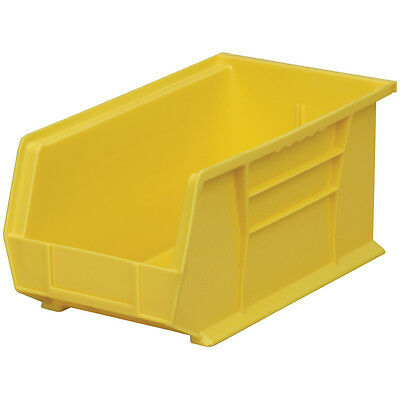 Akro-Mils AkroBin Stack & Hang Bin 7Hx8 1/4W x14 3/4D Yellow  12 pack