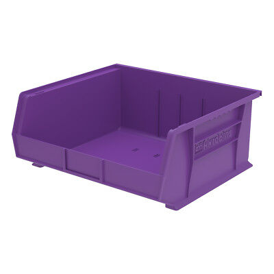 Akro-Mils AkroBin Stack & Hang Bin 7Hx16-1/2Wx14-3/4D Purple  6 pack