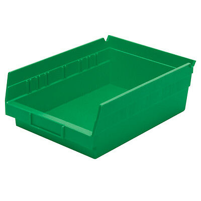 Akro-Mils Shelf Bin 11-5/8D x 8-3/8W 4H Green  12 pack