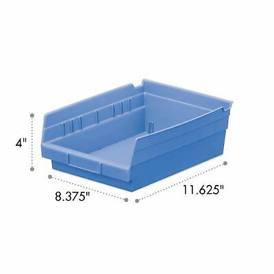 Akro-Mils Shelf Bin 11-5/8D x 8-3/8W 4H Blue  12 pack