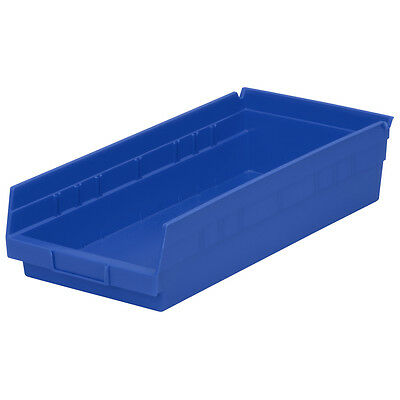 Akro-Mils Shelf Bin 17-7/8D x 8-3/8W x 4H Blue  12 pack