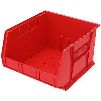 Akro-Mils AkroBin Stack & Hang Bin 11H  x 16-1/2W x 18D Red  3 pack