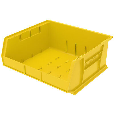 Akro-Mils AkroBin Stack & Hang Bin 7Hx16-1/2Wx14-3/4D  Yellow  6 pack
