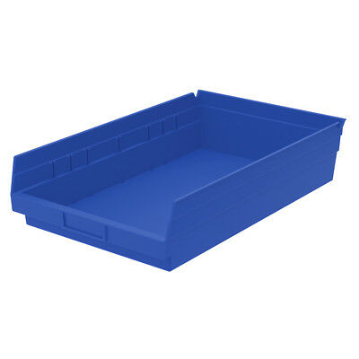 Akro-Mils Shelf Bin 17-7/8D x 11-1/8W x 4H Blue  12 pack