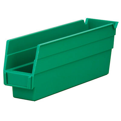Akro-Mils Shelf Bin 11-5/8Dx 2 3/4W x 4H Green  24 pack