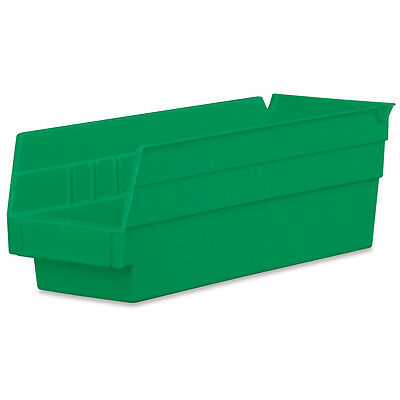 Akro-Mils Shelf Bin 11-5/8D x 4-1/8W x 4H Green  24 pack