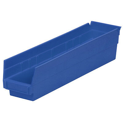 Akro-Mils Shelf Bin 17-7/8D x 4-1/8W x 4H Blue  12 pack