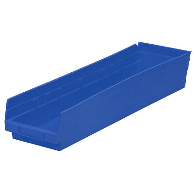 Akro-Mils Shelf Bin 23-5/8D x 6-5/8W x 4H Blue  6 pack