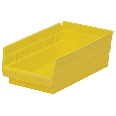Akro-Mils Shelf Bin 11-5/8D x 6-5/8W x 4H Yellow  12 pack