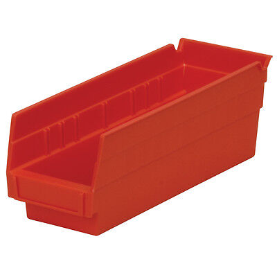 Akro-Mils Shelf Bin 11-5/8D x 4-1/8W x 4H Red  24 pack