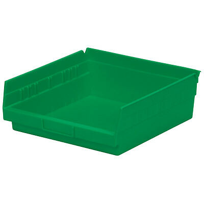 Akro-Mils Shelf Bin 11-5/8D x 11-1/8W x 4H Green  12 pack