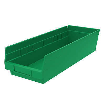 Akro-Mils Shelf Bin 17-7/8D x 6-5/8Wx 4H Green  12 pack