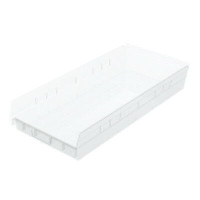 Akro-Mils Shelf Bin 23-5/8D x 11-1/8W x 4H Semi Clear  6 pack