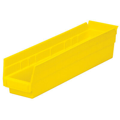 Akro-Mils Shelf Bin 17-7/8D x 4-1/8W x 4H Yellow  12 pack