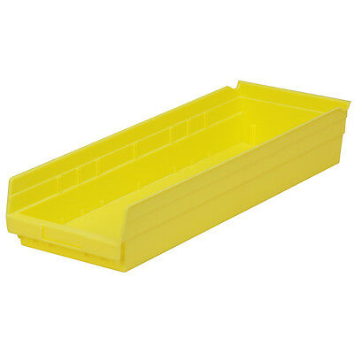 Akro-Mils Shelf Bin 23-5/8D x 8-3/8W x 4H Yellow  6 pack