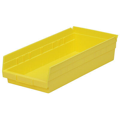 Akro-Mils Shelf Bin 17-7/8D x 8-3/8W x 4H Yellow  12 pack