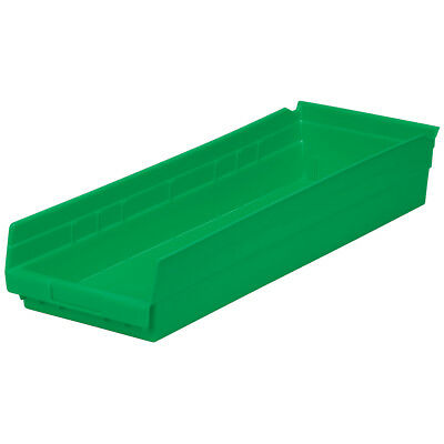 Akro-Mils Shelf Bin 23-5/8D x 8-3/8W x 4H Green  6 pack