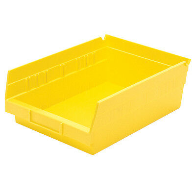 Akro-Mils Shelf Bin 11-5/8D x 8-3/8W 4H Yellow  12 pack