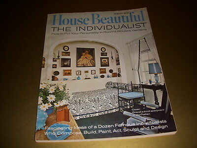 Vintage HOUSE BEAUTIFUL Magazine, March, 1967, THE INDIVIDUALIST, MID-CENTURY!