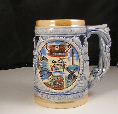 "Vintage ""Cape Cod"" Massachusetts Collector Beer Stein/Mug"