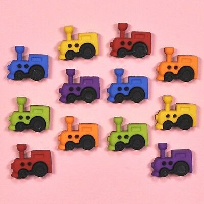 DRESS IT UP Buttons So Cute Trains 6926 - Trains Cars