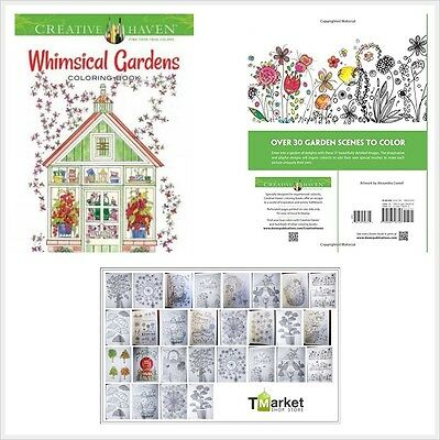 Adult Coloring Creative Haven Whimsical Gardens Book By Alexandra Cowe