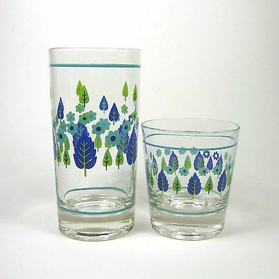 Mar-Crest SWISS CHALET ALPINE Tumbler & Old Fashioned Glass Stetson Marcrest