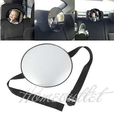 Car Rear Seat Large Wide View Baby Child Safety Mirror Fits To Head Rest Ou