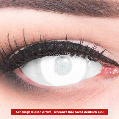 White colored Zombie contact lenses for Carnival: Blind White