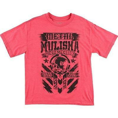 Metal Mulisha T-Shirt / Tee Boys - CHALK - rot