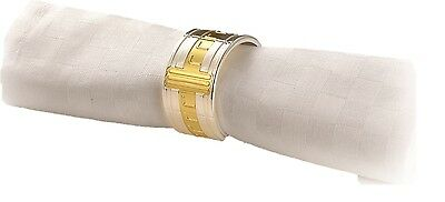 Hermann Miller HM-TD6800 Set Of 6 Silver Napkin Rings Serviette Holder Rings
