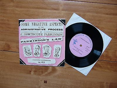 "7"" 45 JUPITER RECORDINGS JEP OC10 ""Some Negative Aspects"" C. Northcote Parkinson"