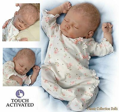 "Ashton Drake "" SOPHIA"" LIFELIKE BABY GIRL DOLL - BREATHES-COO'S-HEARTBEAT - NEW"