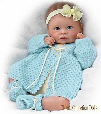 "Ashton Drake ""SWEETLY SNUGGLED SARAH"" LIFELIKE NEWBORN BABY DOLL-NEW- IN STOCK !"