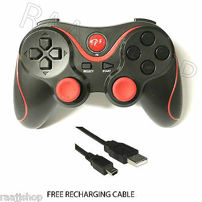 New Rechargeable High Quality Bluetooth Wireless Gamepad Controller For Ps3 Red