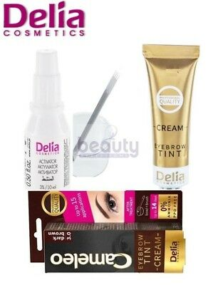 Delia Professional Eyelash & Eyebrow Dye Tint Lash Tinting Full Kit DARK BROWN