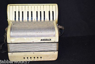 Vintage Italian Shadlen Accordion in Case Mother of Pearl Finish with Case