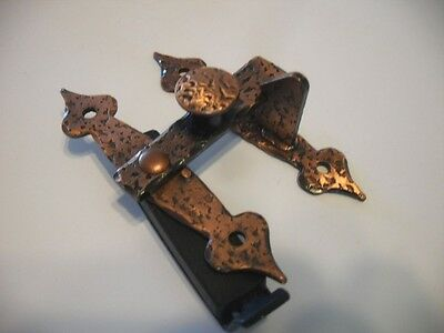 "Vtg NOS Copper/Steel Cabinet Finger Pulls Handles 3/8"" Offset Bar Latch Amerock"