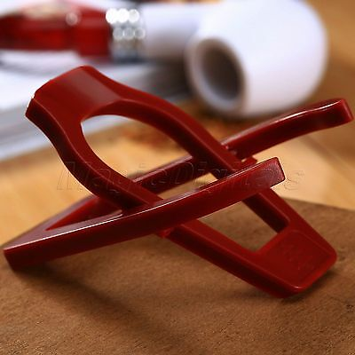 Red Plastic Stand Tobacco Smoking Pipe Rest Stand Rack Holder Foldable Portable