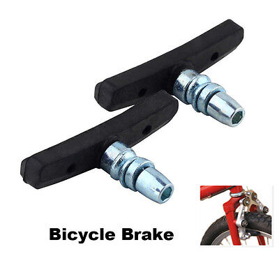 SH US 1PC Bicycle Brake Block Pad High Abrasion Rubber Outdoor Cycling Black
