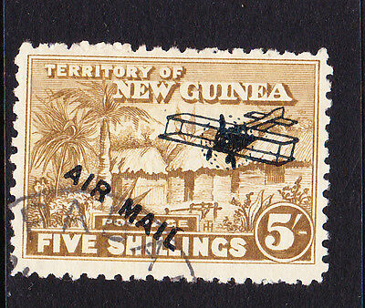 New Guinea 1931 Air 5/- Olive-Bistre Sg 147 Fine Used.