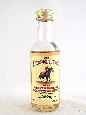 Miniature @ 1977 THE NATIONAL CHOICE Red Rum Scotch Whisky Isle of Wine