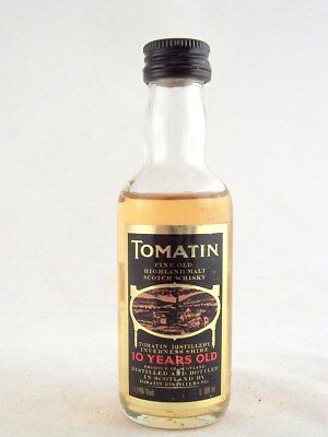 Miniature @ 1986 TOMATIN 10YO Malt Whisky Isle of Wine
